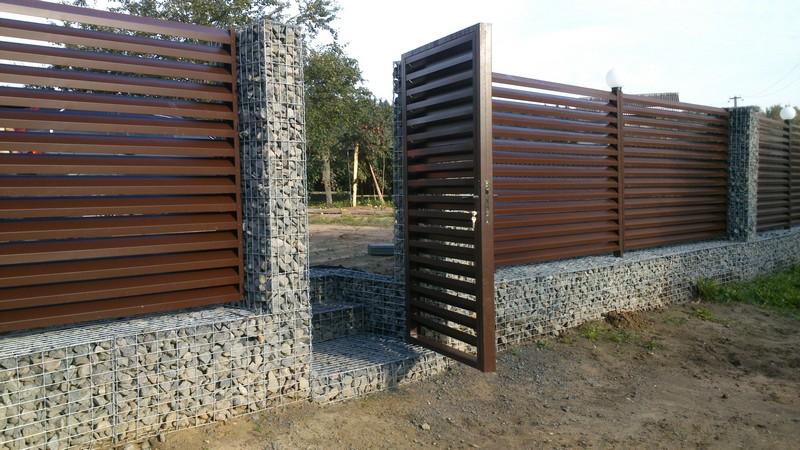 забор жалюзи габионы