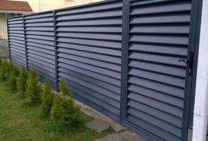Забор жалюзи металл