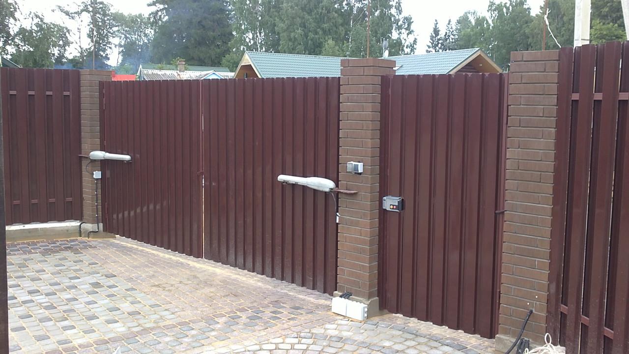 ворота штакетник