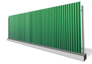 забор профлист с лентой